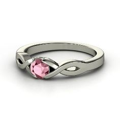 Two Paths Solitaire Ring, Round Rhodolite Garnet Sterling Silver Ring from Gemvara - 10 years this august...I want this.