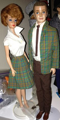 "Ken in College Student, Barbie in 'Pert Skirts' ""Collage Student"" Variation"