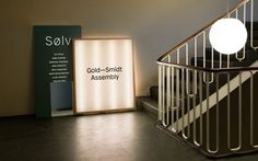 Brand identity, print and signage by Copenhagen design studio Republic for pop-up art gallery Gold—Smidt Assembly