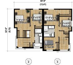 Multi-Family Modern - 80781PM | 2nd Floor Master Suite, CAD Available, Canadian, Metric, PDF | Architectural Designs