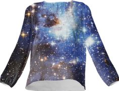 Blue Galaxy Silk Top - Available Here: http://printallover.me/collections/sondersky/products/0000000p-blue-galaxy-11