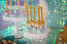 Mermaid cake pops from a Mermaid Birthday Party on Kara's Party Ideas   KarasPartyIdeas.com (18)