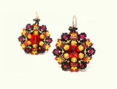 TUTORIAL PATTERN Rulla Flower Earrings with RULLA by CrownofStones, €7.00