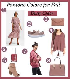modest budgetbelle: Fall Color Trend: Dusty Cedar