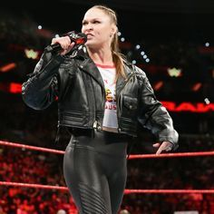 Rowdy Ronda, Raw Women's Champion, Ronda Rousey, Ariana Grande, Wwe, Diva, Leather Jacket, Wrestling, Wall Pictures