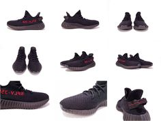 Adidas Yeezy Boost 350 V2 Black Red Sample 2016 2017 chaussures de course  Running Shoes - 52f7440ab2a55