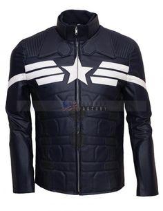 Captain America Winter Soldier Chris Evans Leather Jacket - Celebrity Leather Jacket