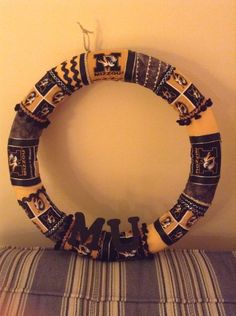 MU fabric Wrapped Wreath