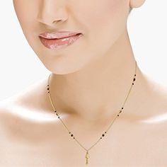 Gadgil Yellow Gold Mangalsutra for Women Gold Mangalsutra, Jewelry Patterns, Bridal Looks, Necklace Designs, Jewelry Art, Jewelery, Pearl Necklace, Pearls, Chain