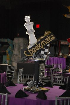 Chess Checkmate Centerpiece