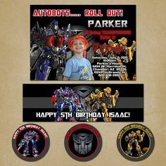 Transformers Birthday Party Package by PinkSkyPrintables on Etsy, $22.00
