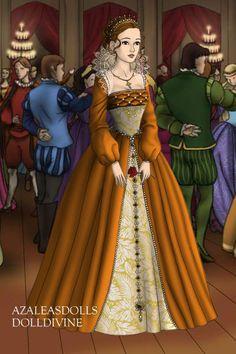 Mary Harvest Ball ~ by Maia ~ created using the Tudors doll maker   DollDivine.com