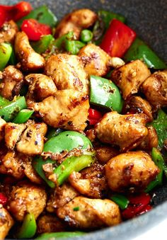 Szechuan Chicken Recipe ~ Szechuan chicken is one of the most popular restaurant style chicken dishes served around the world. Use this easy authentic recipe to make it at home. Szechuan Chicken, Schezwan Chicken, Kung Pao Chicken, Fried Chicken, Chinese Chicken Recipes, Easy Chicken Recipes, Easy Recipes, Jerk Chicken, Gastronomia