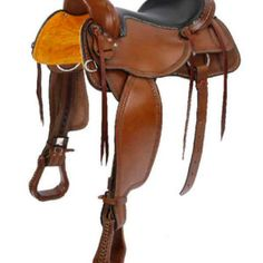 The Oregon Trail (Trail - Pleasure). You can really get into the horse with this superior trail or pleasure saddle. With it's deep, narrow seat, cut out skirts and easy swing fenders with rigging covers, this saddle really stands out.