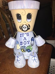 Baby's - Modern Flower Pot Art, Clay Flower Pots, Flower Pot Crafts, Clay Pots, Flower Pot People, Clay Pot People, Clay Pot Projects, Clay Pot Crafts, Painted Plant Pots