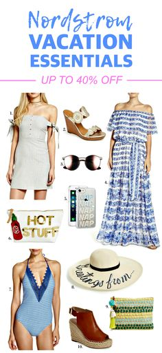 SO many great vacation essentials 40% off! | Fashion and beauty blogger Mash Elle shares the best deals from the Nordstrom Winter Sale including goodies from Rebecca Minkoff, AG Jeans, MAC Cosmetics, kate spade new york, Free People, Vince Camuto, Sam Edelman, Ted Baker, Kendra Scott, Sonix, Jack Rogers and more!