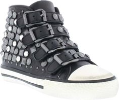 "Viper Toddler - Ash | KidsShoes  #Girls #high top #leather #sneakers with mixed #stud details side zipper closure to make it easy on and off #Adjustable buckles ensures the proper #fit Every girl needs to add a little #""rockstar"" to their #closet.  #KidsShoes #KS #KidsSizing #KidsDollars #FreeShipping #Ash #Trends #Studs #Cool #Fun #Fashion #KidsFashion #Footwear #KidsFootwear"