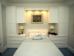 Gothic Cabinet Craft - CUSTOM - White Built-In Wall Unit With Bed, PLEASE CONTACT US FOR MORE INFORMATION ABOUT OUR CUSTOM WORK (http://www.gothiccabinetcraft.com/custom-white-built-in-wall-unit-with-bed/)