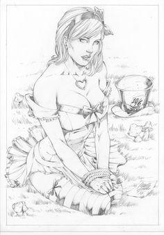 Alice in Wonderland by comiconart on DeviantArt