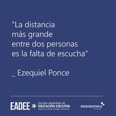 La Distancia más grande entre dos personas es la falta de Escucha.