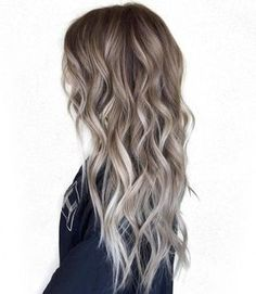 brown hair with blonde balayage highlights