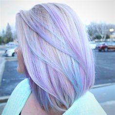 Pretty Hair Color, Beautiful Hair Color, Hair Color Purple, Hair Color And Cut, Hair Dye Colors, Pastel Hair Colors, Periwinkle Hair, Pastel Rainbow Hair, Pastel Colored Hair