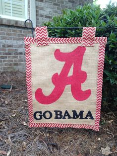 Find This Pin And More On Etsy Products. Alabama Burlap Garden Flag ...