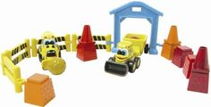 """John Deere  - My First Collectible 20 Piece Construction Set by Learning Curve. $17.99. Each small but sturdy die-cast measures approximately 35"""" and rolls on durable plastic wheels. Features popular John Deere. Includes die-cast Front Loader, die-cast backhoe with trailer, tool shed, six reversible building blocks, construction barriers, cones and boulders. Popular Construction play theme. From the Manufacturer                A great value set for children of al..."""