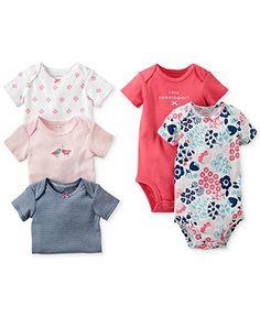 Carter's Baby Girls' 5-Pack Bodysuits - Kids - Macy's