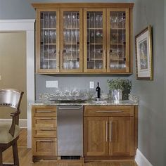 Stained-Glass Bar Cabinets