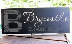 Family Name Sign includes established date by WiseOwlWorkshop, $24.00