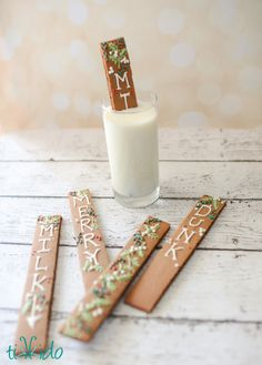 Chocolate gingerbread cookie recipe!  And cut into sticks made for dunking in milk.