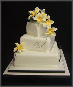 Wedding Cake With Square Cupcakes