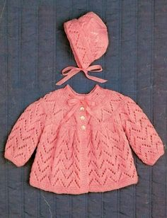 Knitting Patterns Coat Excited to share the latest addition to my shop: Baby Knitted Coat and Bonnet PDF Knitting Pa. Baby Cardigan Knitting Pattern Free, Baby Boy Knitting Patterns, Baby Patterns, Crochet Baby, Knit Crochet, Knitted Coat, Baby Sweaters, Etsy Shop, Knitting Needles