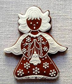 ❤️Little Angels ~ Christmas gingerbread Christmas Gingerbread House, Christmas Sweets, Noel Christmas, Christmas Goodies, Christmas Baking, Gingerbread Cookies, Gingerbread Houses, Galletas Cookies, Cupcake Cookies