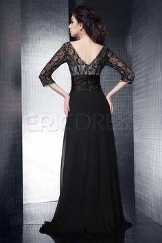 Elegant A-line Long Sleevless V-Neck Talines Mother of Bride Dress