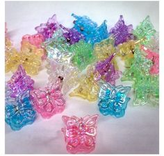 Omg!!!! Butterfly hair clips