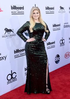 "Pin for Later: See Every Stunning Look From Last Year's Billboard Music Awards Meghan Trainor The ""All About That Bass"" singer showed off her curves in a deep green, form-fitting Badgley Mischka gown."