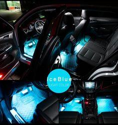 2PCS 12V LED DRL Strip Lights Car Truck Boat Interior Under Dash Floor Ice Blue