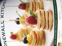 Mini Pancake Stacks - perfect brunch finger food