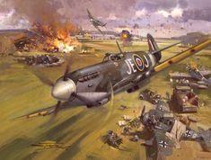 Supermarine Spitfire IX by Michael Turner. Ww2 Aircraft, Fighter Aircraft, Military Aircraft, Military Art, Military History, Aviation Decor, Supermarine Spitfire, Ww2 Spitfire, War Thunder