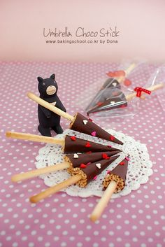 Umbrella chocolate stick
