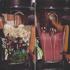 I was inspired by @genhope1_ and @simplenatliving to change what and how I eat  a cool #healthy #smoothie with #raspberry #blackberry #banana #oats #kale #oats #coconutwater #cashewnuts #pumpkinseeds  #ice  #instafit #instafood #instadiet #instahealth #mindbodyconnection