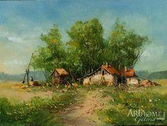 Benda Zoltán festmény-Nyár