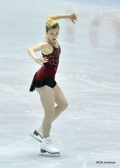 Ashley Wagner, 2013, Red Figure Skating / Ice Skating dress inspiration for Sk8 Gr8 Designs.