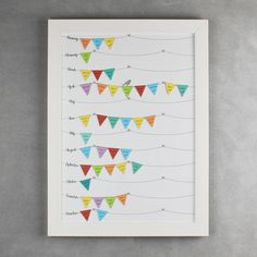 Framed Birthday Reminder Calendar