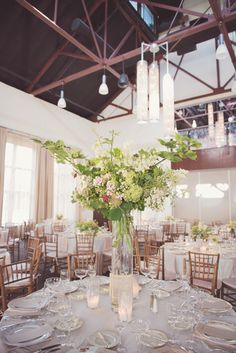 July reception at Phoenixville Foundry; Flowers by Love 'n Fresh Flowers; photo by Maria Mack Photography