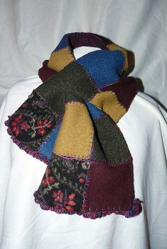 Recycled Wool Sweater Scarf