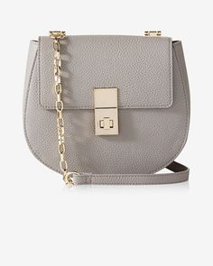 Express Women's Turnlock Crossbody Messenger Bag in Gray Drew Dupe Fall Bags, Best Purses, Express Women, Crossbody Messenger Bag, Purse Styles, Womens Purses, Vintage Bags, Fashion Handbags, Wallets For Women
