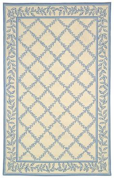 beautiful miniature blue and ivory carpet